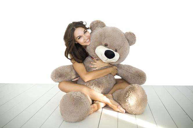 """Большой медведь 130 см кофейный """"Тихон"""""""