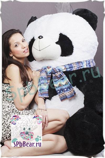 """Большая панда 130 см """"Снежана"""""""